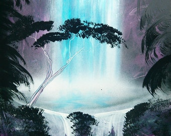 Jungle Waterfall - Spray Paint Art