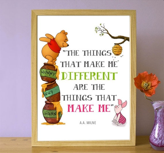 If Things Were Different Quotes: Items Similar To Printable Winnie The Pooh Quote