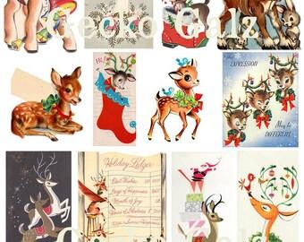 Reindeer Games Digital Collage Sheet