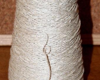 200 gm Pure COTTON WARPING Yarn, light cream, for Weaving Warp & Weft , Knitting, Crochet, Macrame etc