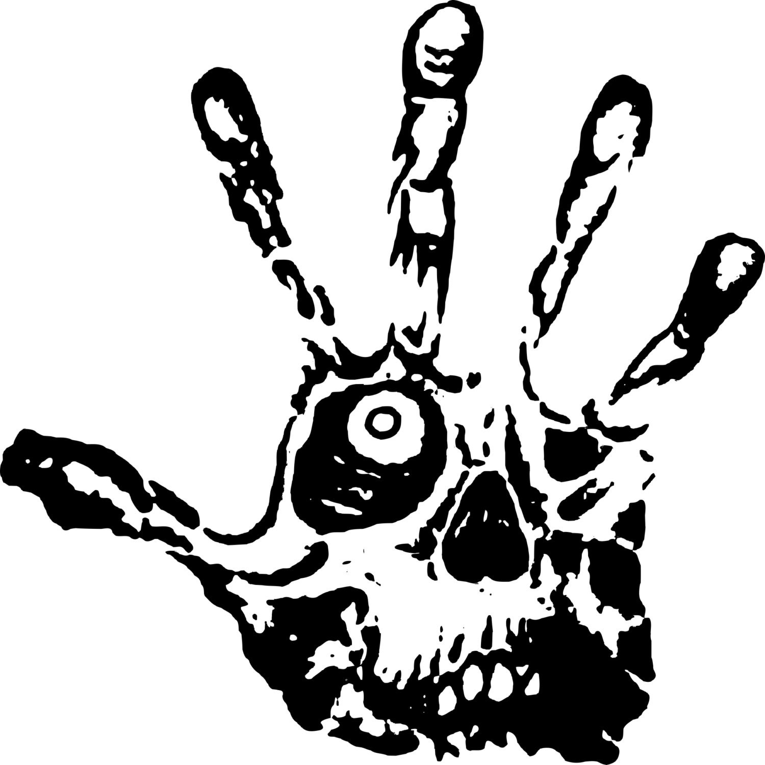 Hand Skull Eye Fingers Car Truck Window Wall Laptop Vinyl - Skull decals for trucks