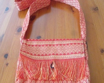 Shoulder bags handmade from beautiful Cambodian  fabric fully lined with a cream cotton.
