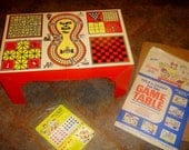 Fold'n carry Fun Time Game Table BOARD GAME oringianl 1968 retro vintage complete like new great for kids