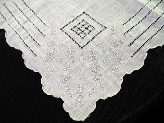madeira handkerchief antique hankie wedding by vintagebyteresa