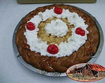 """10"""" Coconut Cream Pie Braided Crust Pie Candle"""