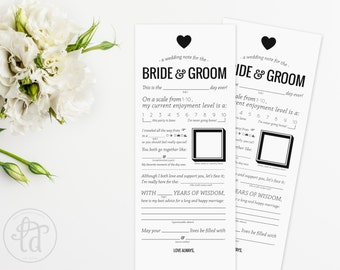 Wedding Mad Libs Printable - Note for the Bride and Groom - DIY - INSTANT DOWNLOAD