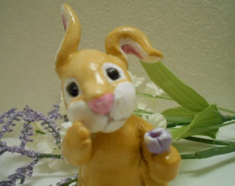 Ooak Art Handmade Pure Sculpt Easter Bunny.