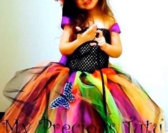 halloween tutu dress spooky witch tutu dress halloween wedding halloween flower girl - Halloween Tutu Dress