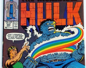 The Incredible Hulk Marvel Comic Book May 1989 Vol. 1 No. 355