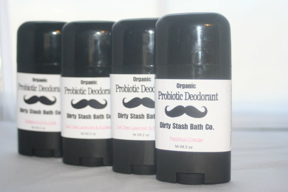 2 oz Natural Probiotic Deodorant with Organic ingredients-Cypress & Birch essential oils