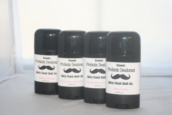 2 oz Natural Probiotic Deodorant-made with Organic ingredients-Vanilla Ylang Ylang essential oils