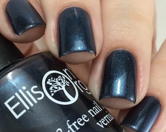 Dark Blue Nail Polish - Blue Vegan Nail Polish - Indie Nail Polish - Nail Lacquer - Dark Blue Nail Lacquer - Good Old-Fashioned Villain
