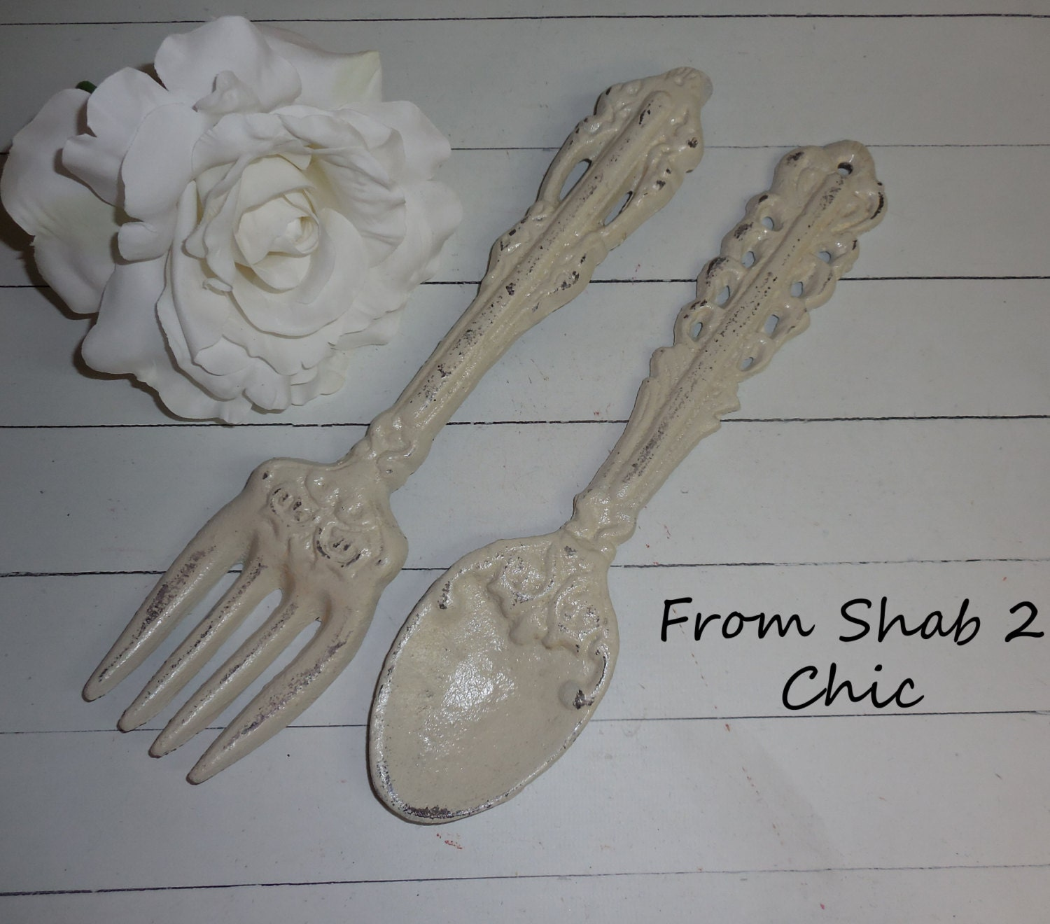 Ivory Decor Fork And Spoon Set Kitchen Wall By