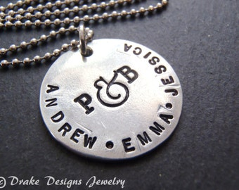 Rustic Family necklace Mom gifts Mothers Day gift personalized necklace mothers jewelry