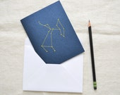 Embroidered Zodiac Sign Constellation Card