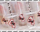 Cow Print Birthday Party Cups-Kids Party Cups-Farm Party Favor Cups