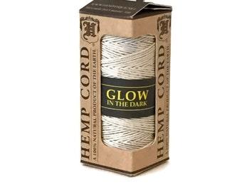 Glow in the Dark Hemp Cord, 20lb Hemp Twine, Natural Glow in the Dark Hemp, Night Glow Hemp