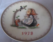 "HUMMEL 1978 Annual Collector Plate 7.5"" HUM 271"