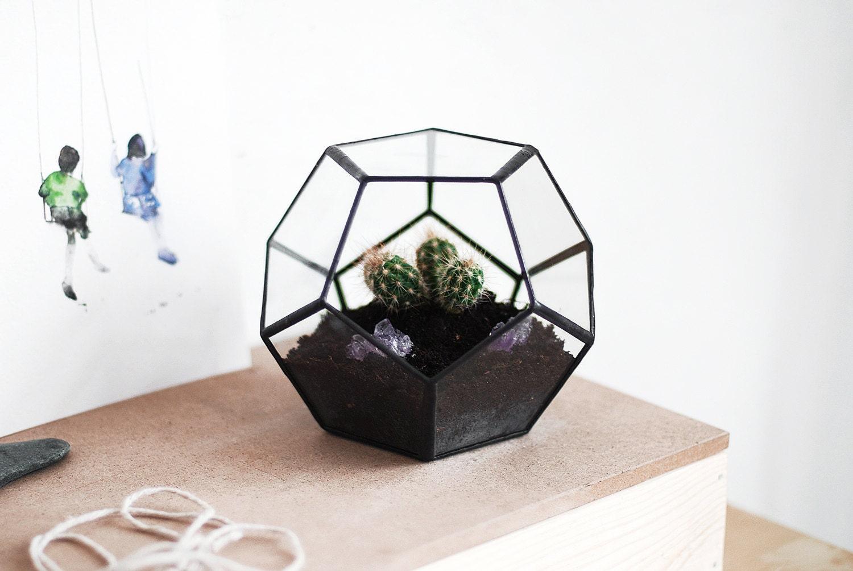 free shipping geometric glass terrarium. Black Bedroom Furniture Sets. Home Design Ideas