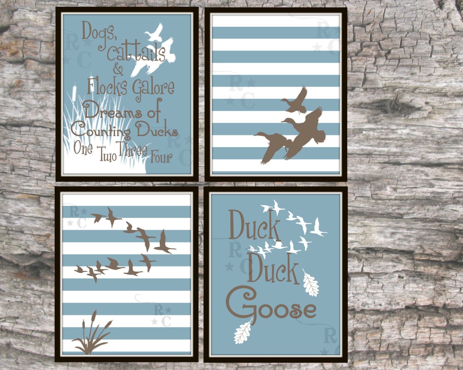 Boys Duck Hunting Nursery Decor Wall Art By Raising3Cains