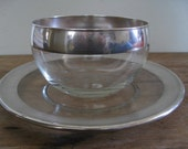 Vintage 50s Dorothy Thorpe Small Bowl and Luncheon Plate
