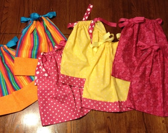 Pillowcase Dress Lot of 7, Size 6-12 months