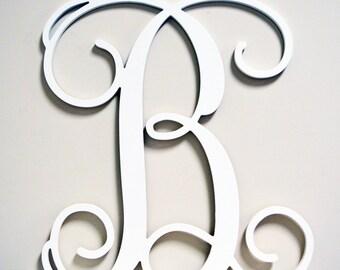 """36"""" INCH Wooden Monogram Letter, Unfinished,Unpainted, wedding decor monogram, family room, door hanging"""