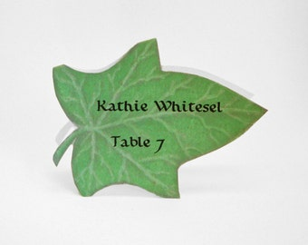 Leaf Place Card - Ivy - Christmas - Unique - Wedding Place Card - Event Escort Card - Customized