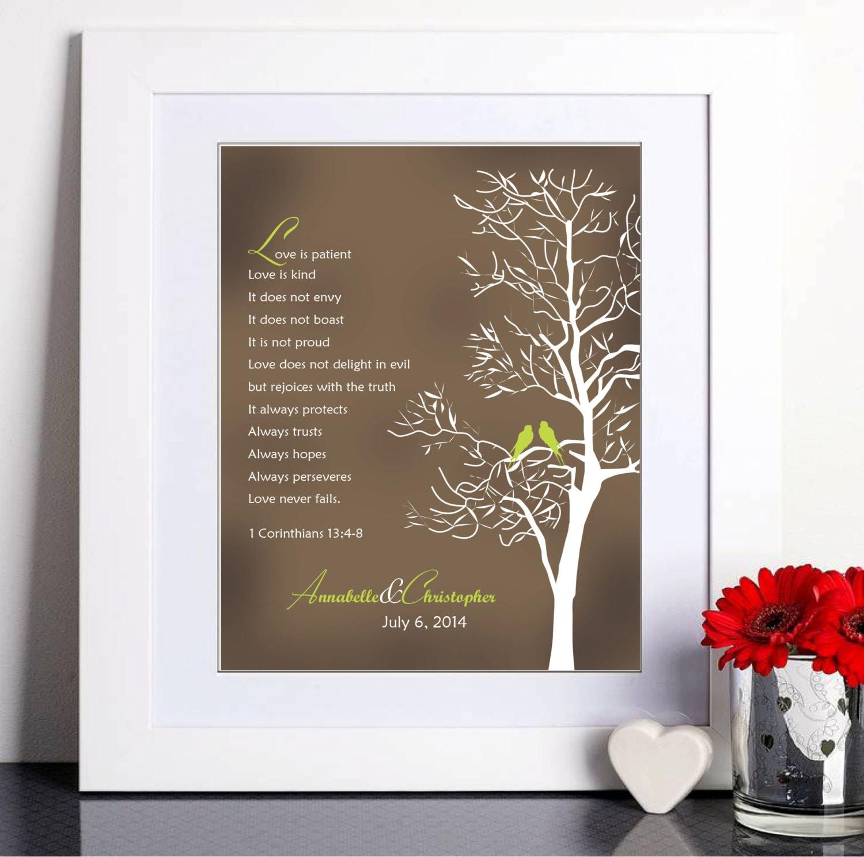 Wedding Gift List Verses : Bible Verses Wedding Gift Husband Wife Anniversary Gift