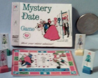 Barbie Sized Vintage Mystery Date Board Game Set