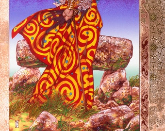 "Celtic Irish Fantasy Art BREAS THE BEAUTIFUL 8x11""."