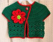Crochet Urban Girl Cropped Cardi