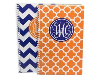 Monogram Spiral Notebook Journal | Personalized Notebook