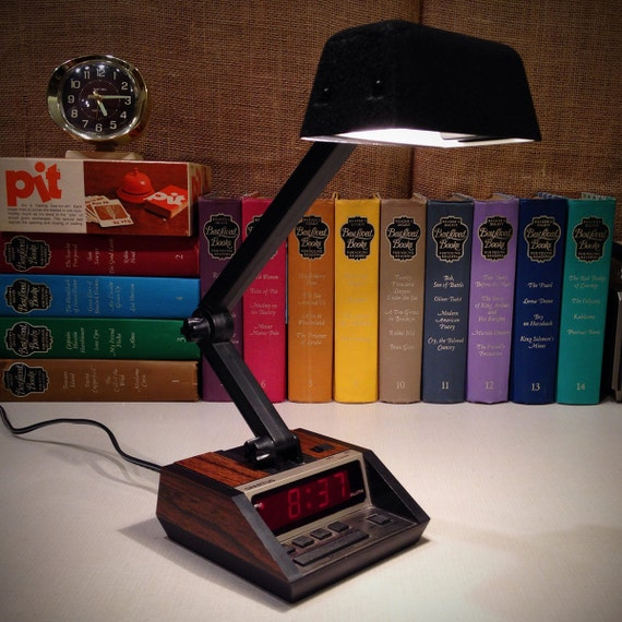 Vintage Digital Alarm Clock And Desk Lamp By Spartus