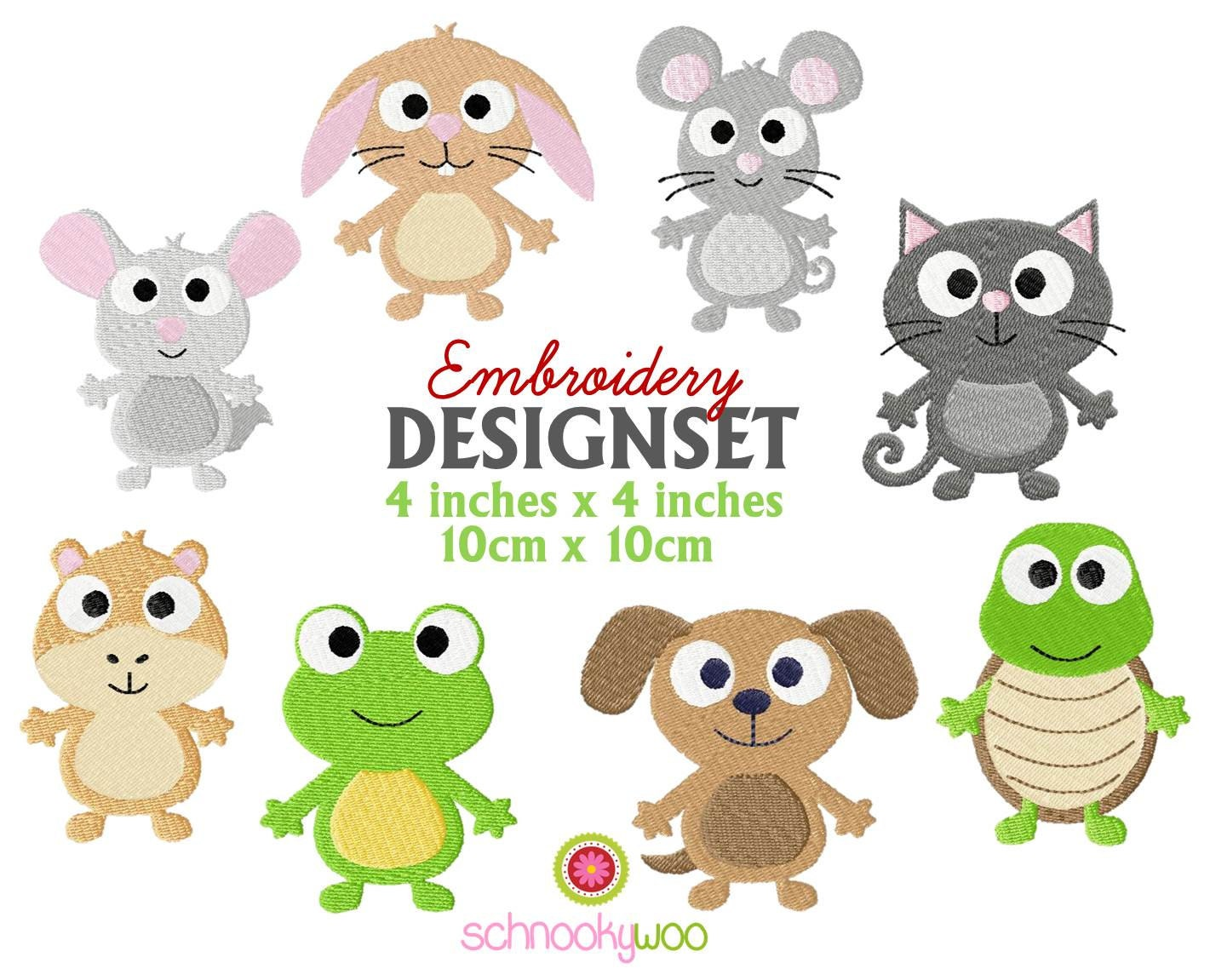 Embroidery animals design dog