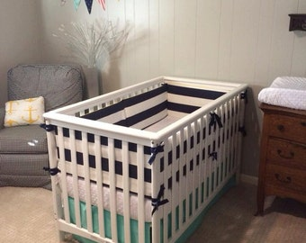 Custom Crib Bumper with Piping