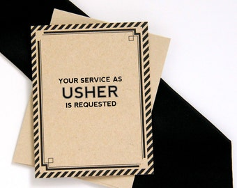 Will You Be My Usher Card