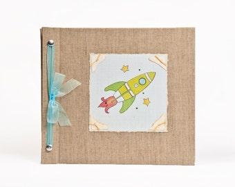 Baby Book - Baby Memory Book - Boy, Rocket, Baby Album - Rocket Baby Memory Book - Hugs and Kisses XO Baby Memory Book