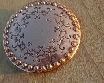 Vintage Hand Wrought Copper Bret Barkin Brooch