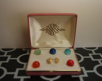 Ring with Interchangeable Colored Orbs - 5 Rings in One!
