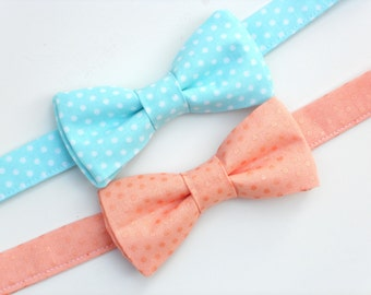 Boys peach bow tie, mens peach bow tie, ring bearer bow tie, toddler bow tie, little boy bow tie, groomsmen bow tie, boys wedding outfit