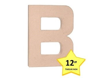 paper mache cardboard letters 12 inch letter b paper craft party decor supplies