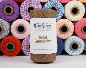 240 Yards of Cappuccino Brown Baker's Twine - Solid - Packaging Gift Wrap Craft Party Supplies