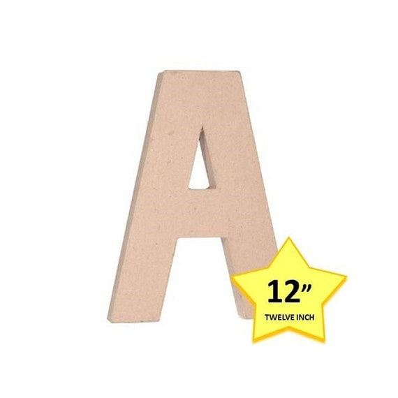 paper mache cardboard letters 12 inch letter a paper craft With 12 cardboard letters