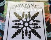 "Hawaiian quilt pattern ""Banana leaf"" 20 inch x 20 inch"