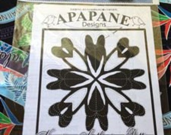 """Hawaiian quilt pattern """"Anthurium"""" 20 inch x 20 inch"""