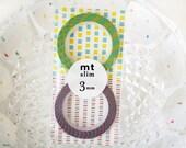 MT Slim A 3mm Washi Tape(Red Blue Stripe one roll+Yellow/Light Blue Stripe one roll)