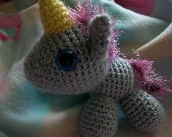 Sparkly Silver Unicorn
