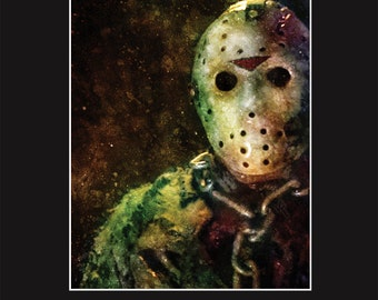 Jason Voorhees 7 -  11X14 Matted Print - Signed by Artist Joel Robinson