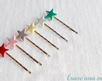 Sweet stars hair clips